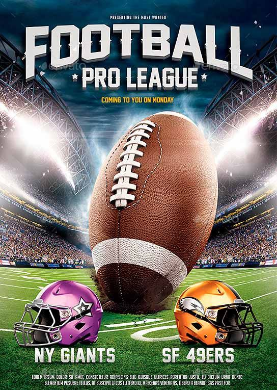 American Football League Flyer Template -    wwwffflyer - football flyer template