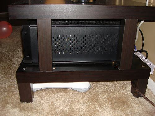 great way to increase the height of the lack tv stand. Black Bedroom Furniture Sets. Home Design Ideas