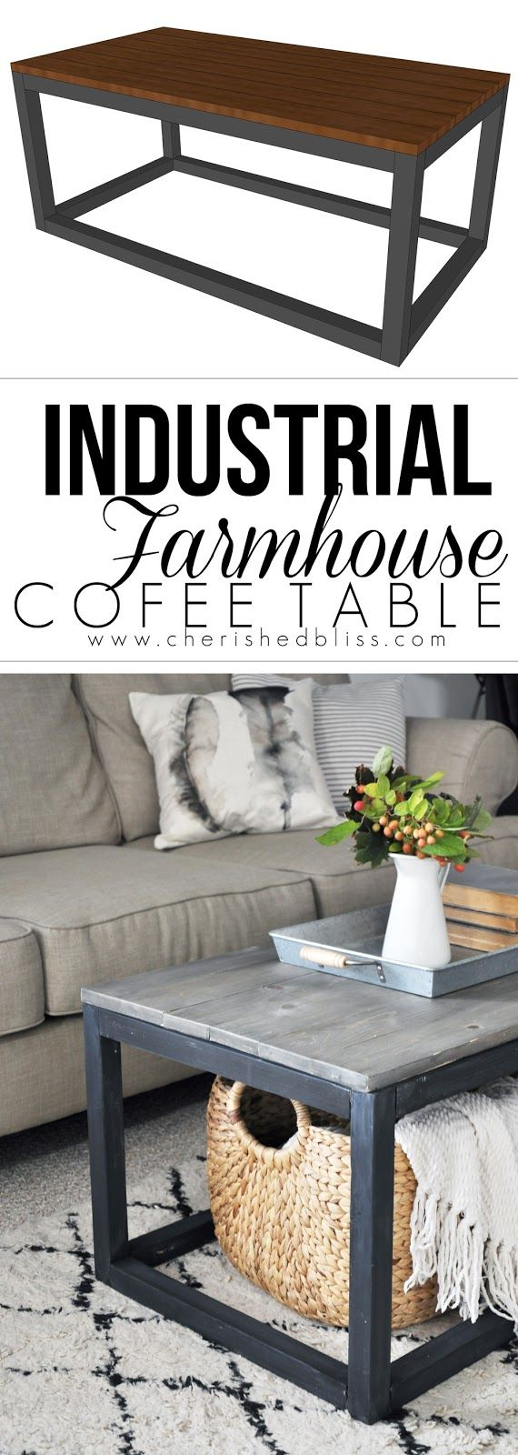 get the free plan for this industrial farmhouse coffee table idee deco table basse