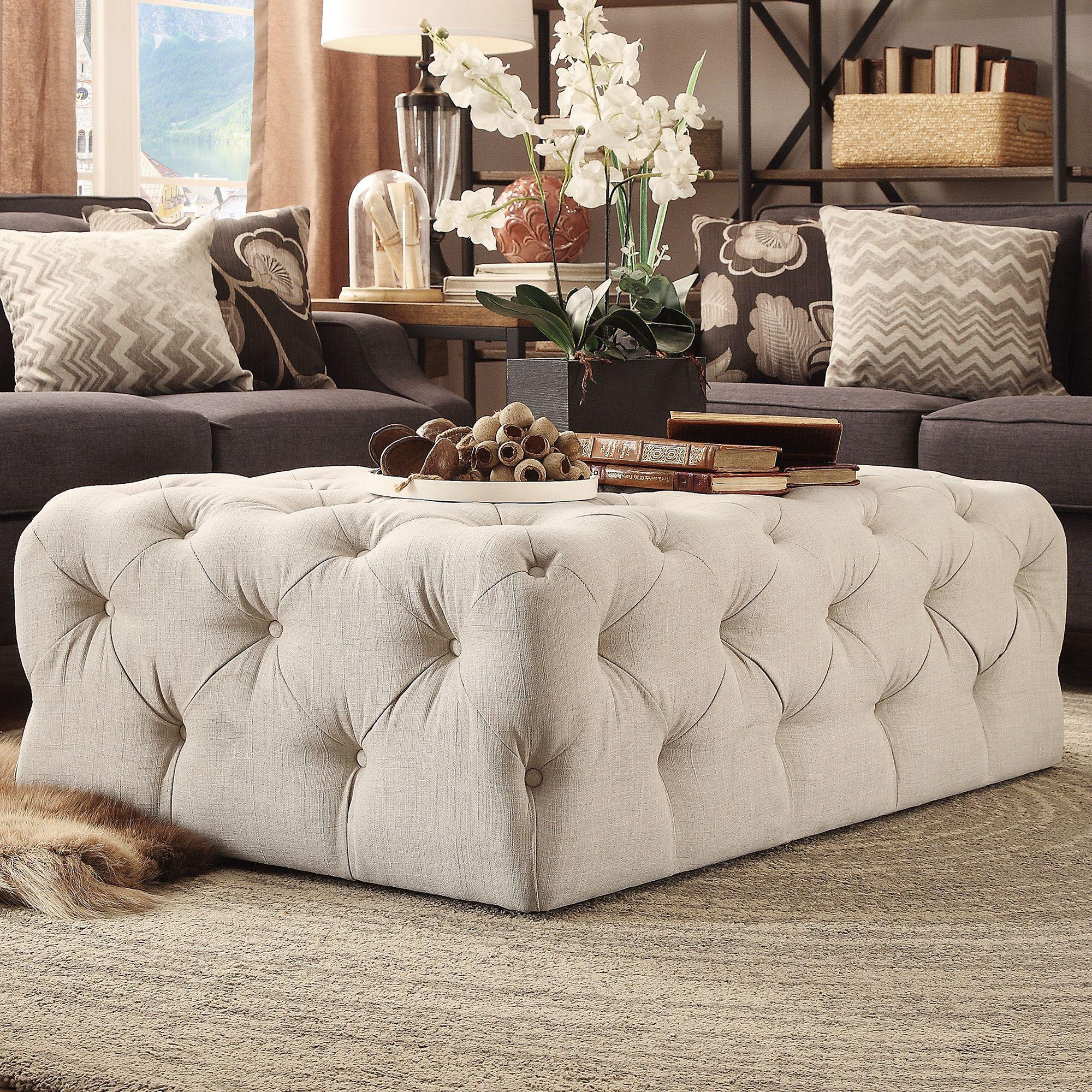 Reid Tufted Ottoman | Furniture | Pinterest | Centro y Mesas