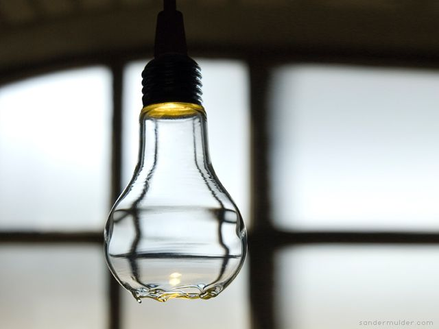 Ceci ne'st pas une lampe  A broken bulb can not function, or can it ... ? a light by sander mulder