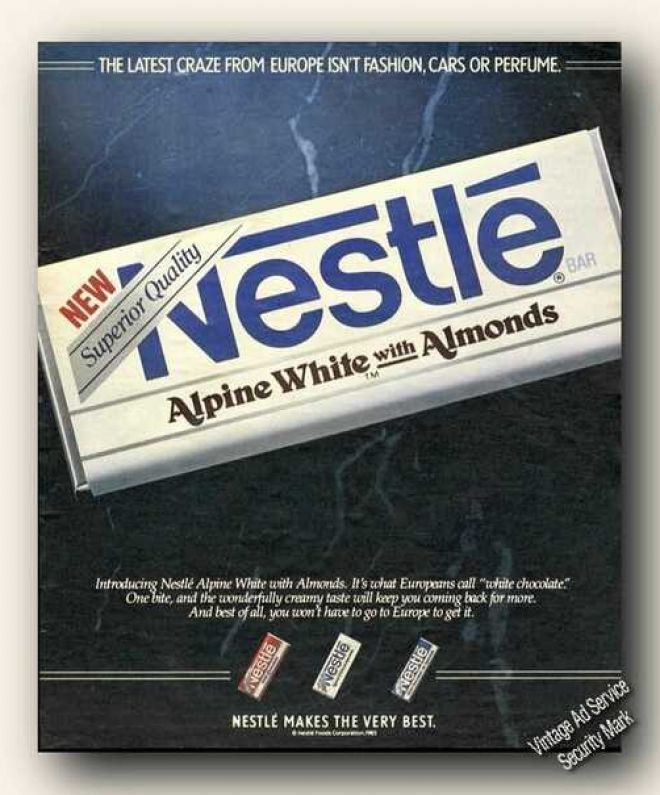 Nestle Alpine White Foods I Miss Childhood Memories Candy