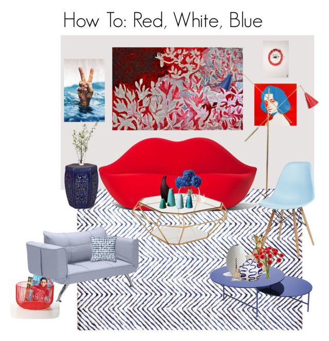 How To: Red White Blue with Original Art from Saatchi Art.