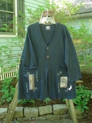 1999 Triangle Jacket Metallic Ginger Jar Black Size 0