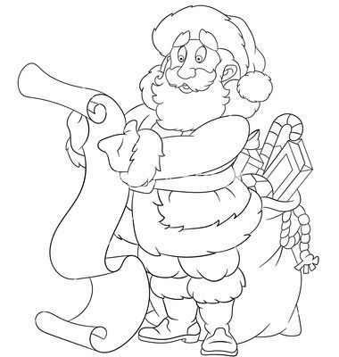 happy cartoon santa claus vector happy cartooncoloring book