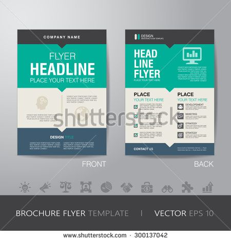 Corporate Brochure Flyer Design Layout Template In A4 Size With