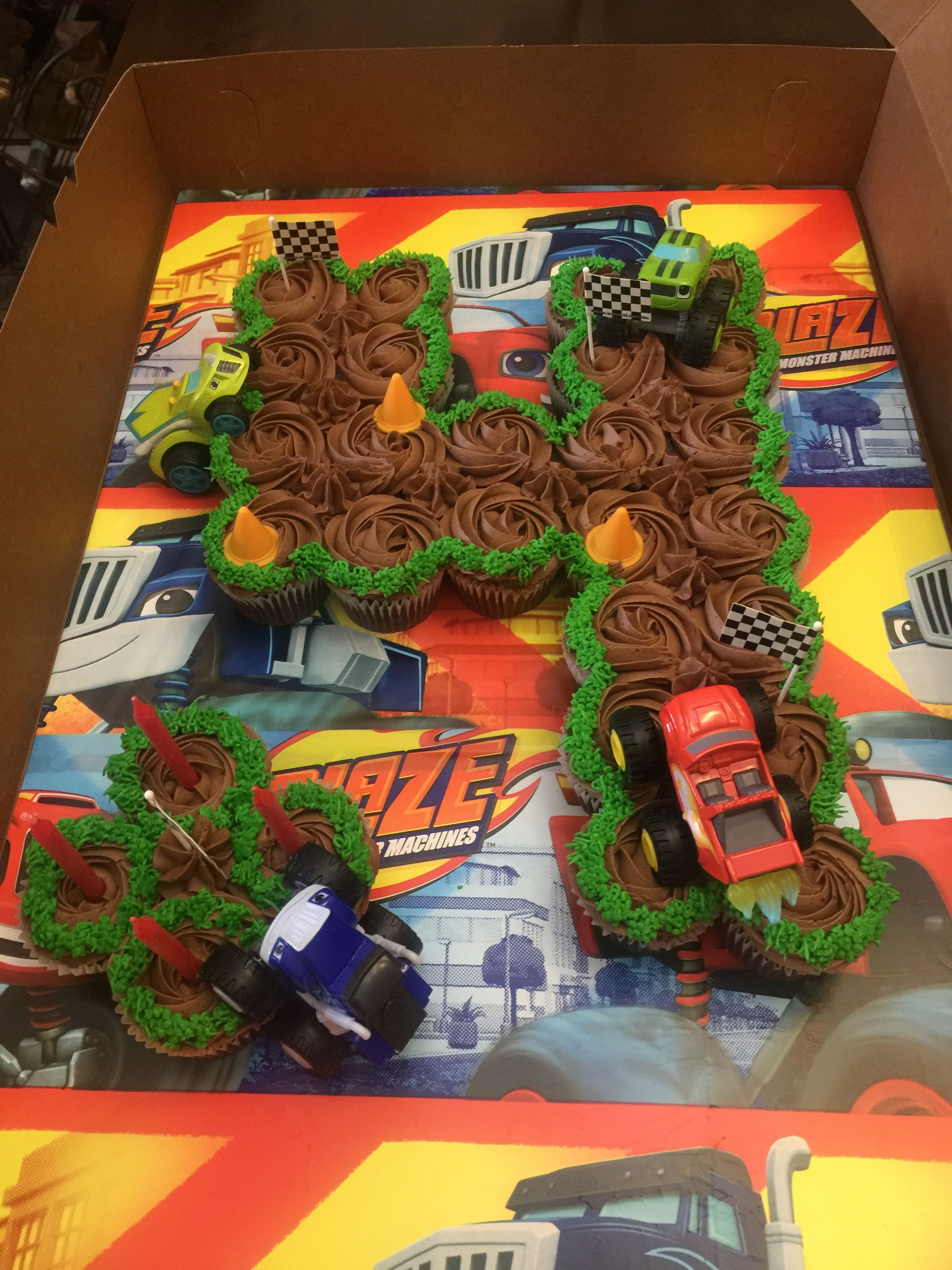 Cupcake pull apart made for my grandson carters 4th