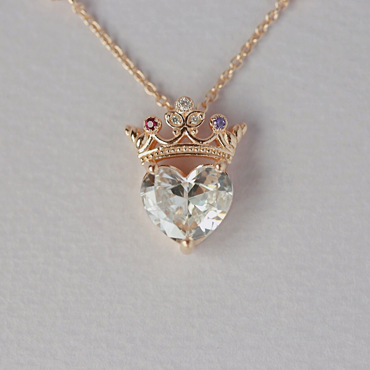 en lab crown zoom gold mv kaystore necklace to sapphires zm kay created rose white hover