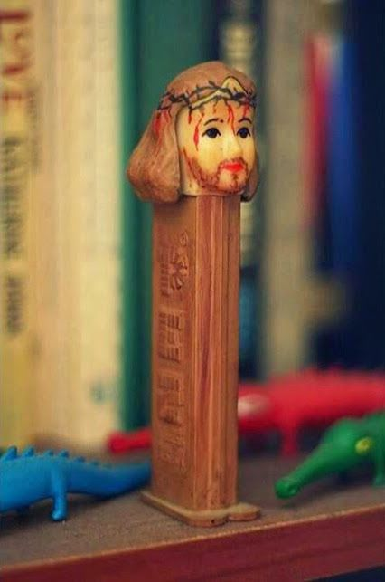 Just in time for Good Friday - crucified Jesus PEZ dispenser-