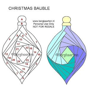 Christmas Bauble Iris Folding Pattern Iris Folding Iris Folding Templates