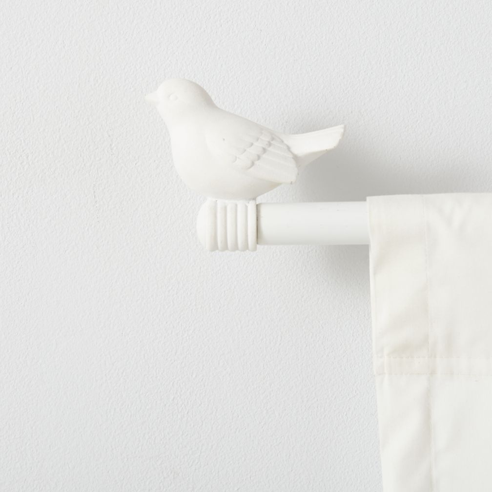 Curtain Accessories Curtain Rod White Bird Finials The Land Of