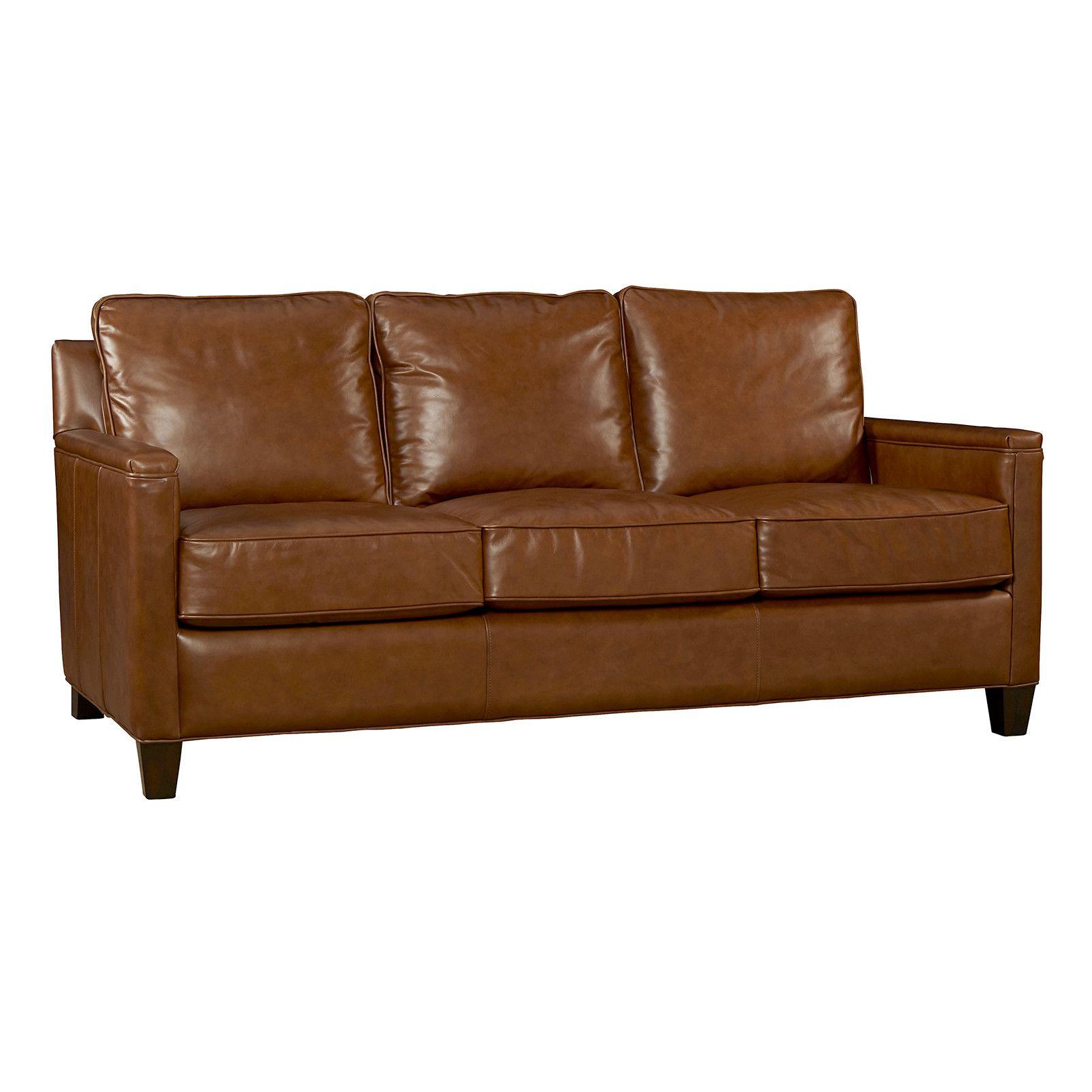 Palatial Furniture Alexander Leather Sofa