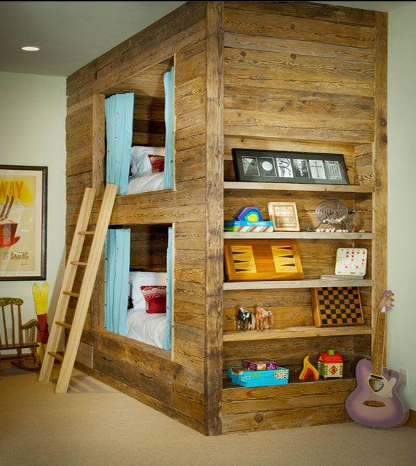 Kinderzimmer Mit Hochbett Slifer Designs Holz Kasten Robust