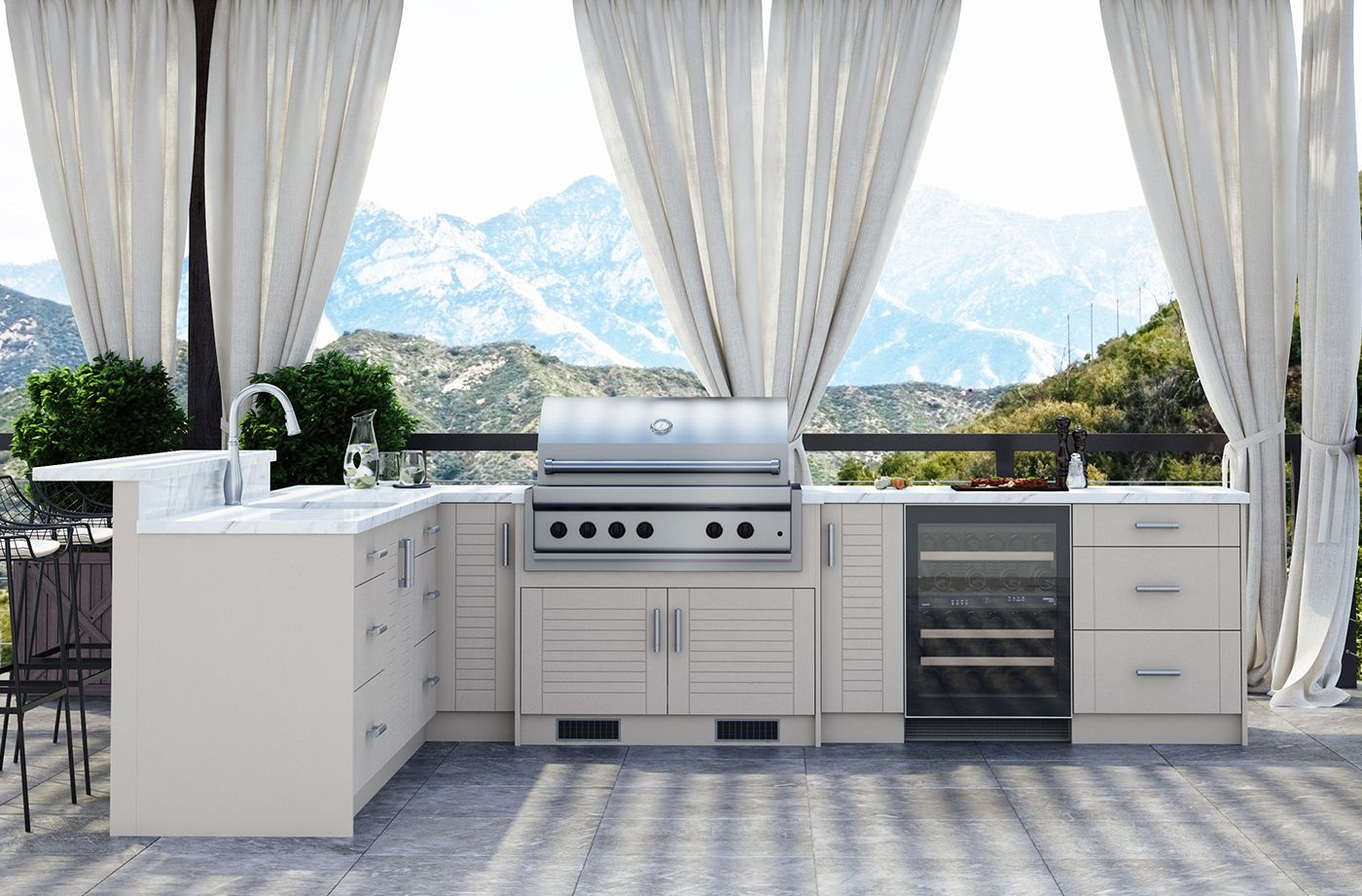Costco Weatherstrong Outdoor Cabinetry In 2020 Cabinetry Home Appliances Outdoor Kitchen