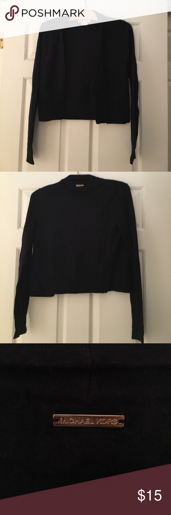 Navy blue Michael Kors cropped sweater | Dark navy blue, Michael ...