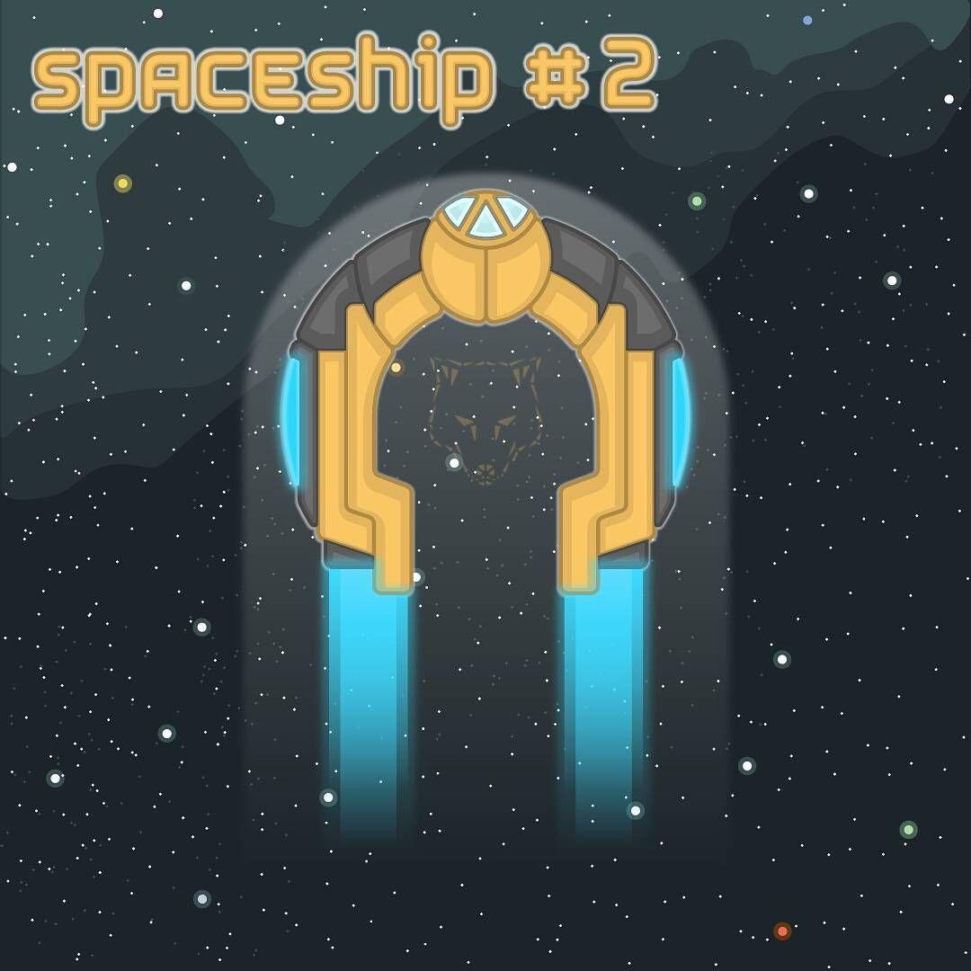 simanka nkurtel space spaceship 2d design outline game
