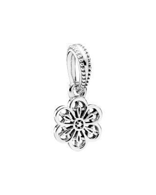 57d60a0f2 PANDORA Dangle Charm - Sterling Silver Floral Daisy Lace | Bloomingdale's