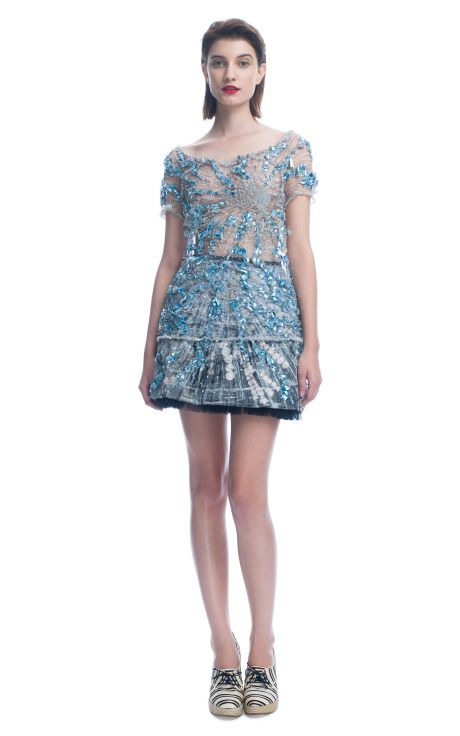 Swarovski and Tulle Top and Skirt from Giles