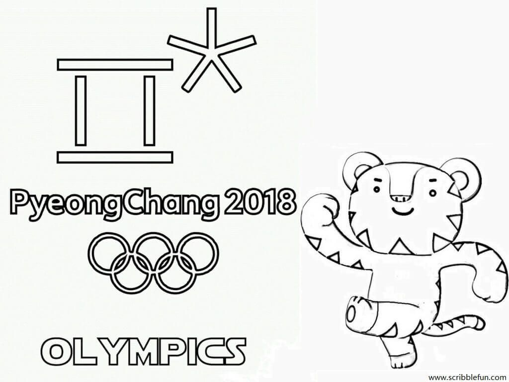 Olympics Coloring Pages Olympics Logo Coloring