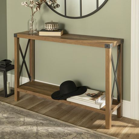 Manor Park Multiple Finishes Farmhouse Accent And Entryway Table