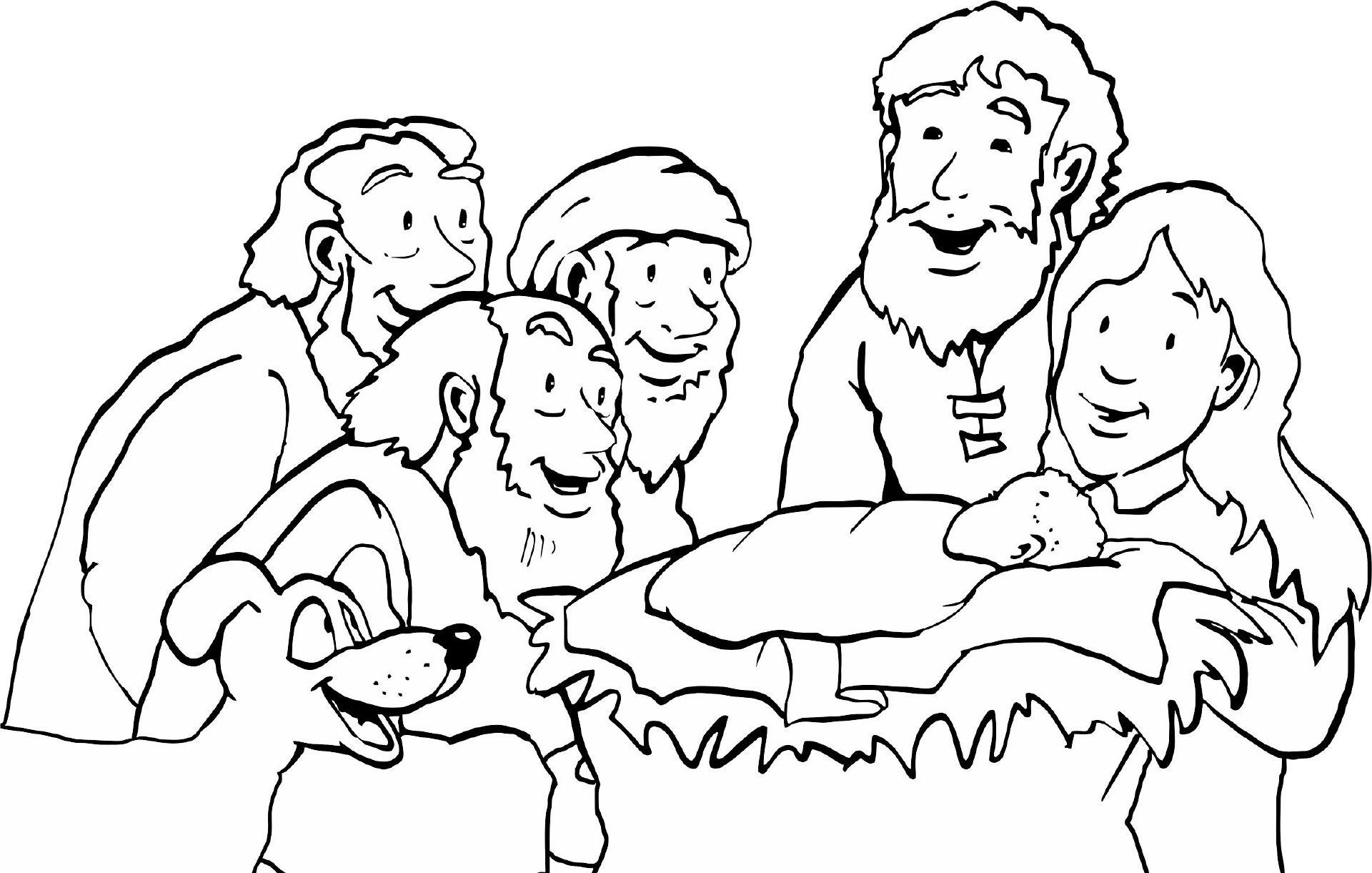Weihnachten mjt Hirten | Ausmalbilder biblisch | Pinterest | Hirte ...