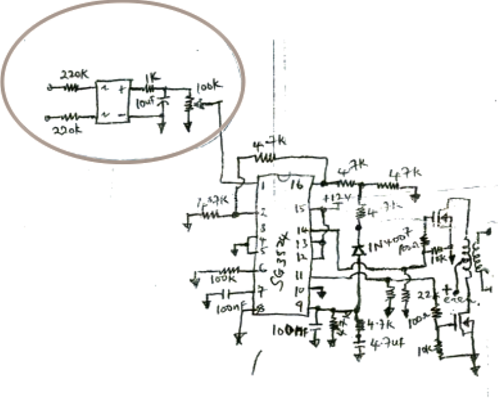 SG 3525 Automatic PWM Voltage Regulation Circuit