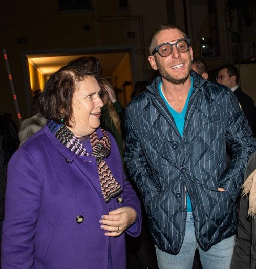 fig.: Journalist Suzy Menkes and Lapo Elkann, co founder