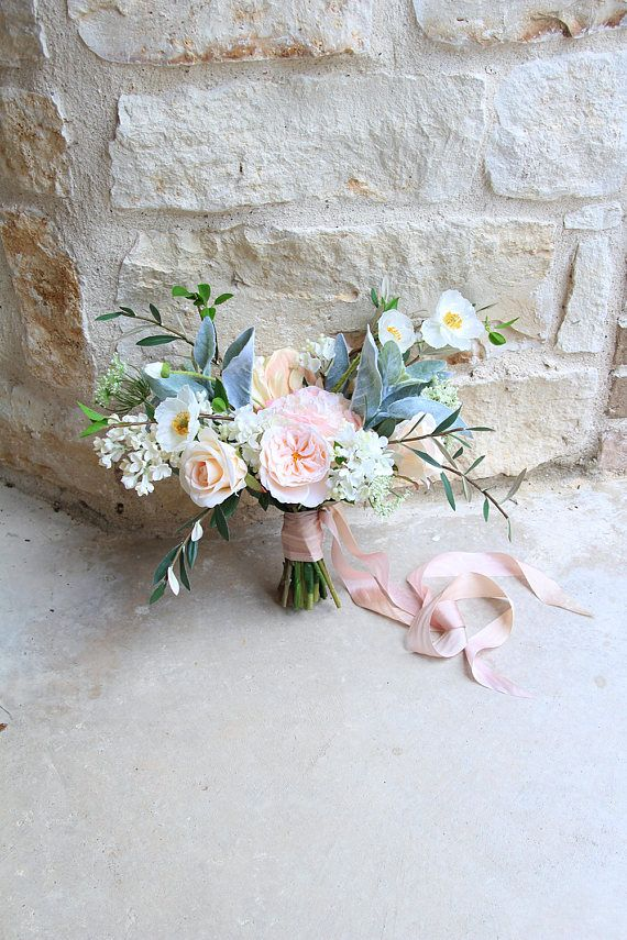 Loose garden style wedding bouquet blush and light peach silk loose garden style wedding bouquet blush and light peach silk flower bridal bouquet sg 1042 bridal bouquets ranunculus and weddings mightylinksfo Gallery