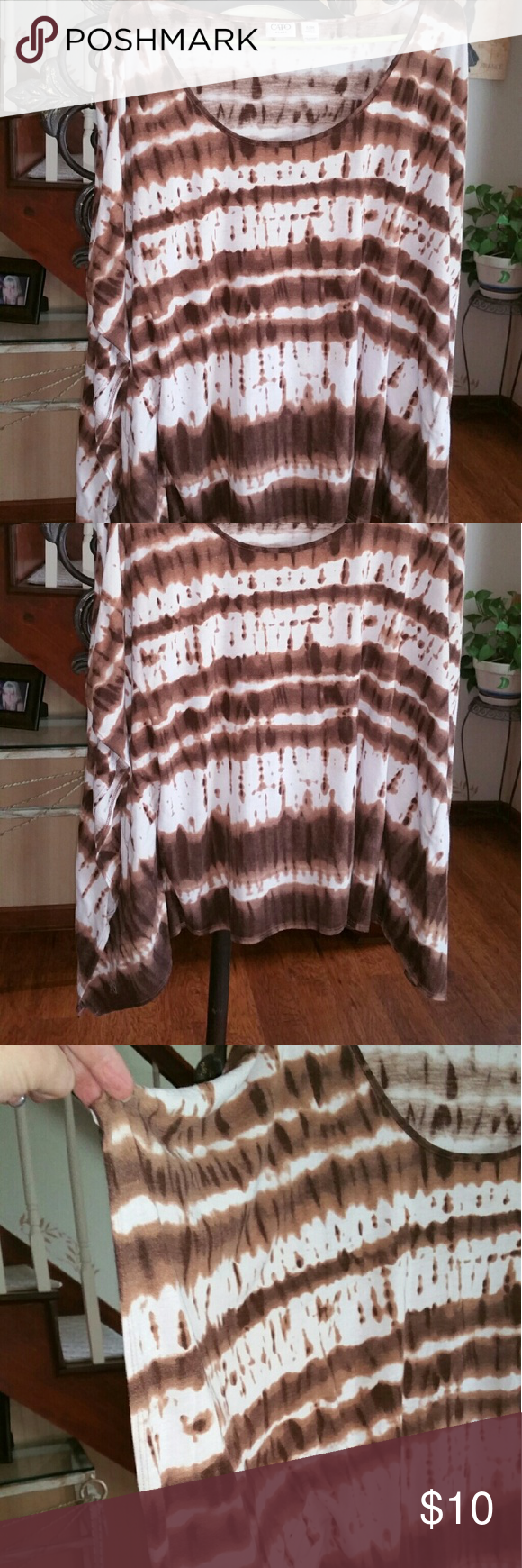 Cato tie dye shirt Cato tie dye shirt.  Excellent like new condition. Cato Tops Tees - Short Sleeve