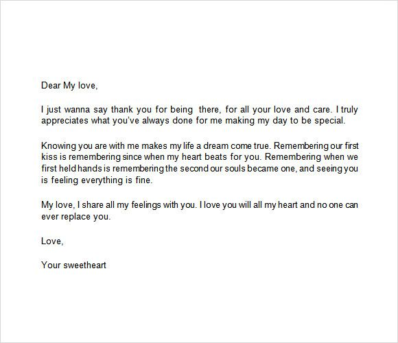 appreciation letter free samples examples format template Home - love letter format sample