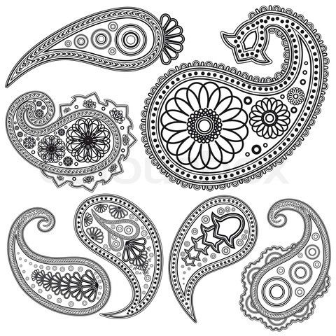Black and White Paisley | Stock vector of 'Eps Vintage Paisley ...