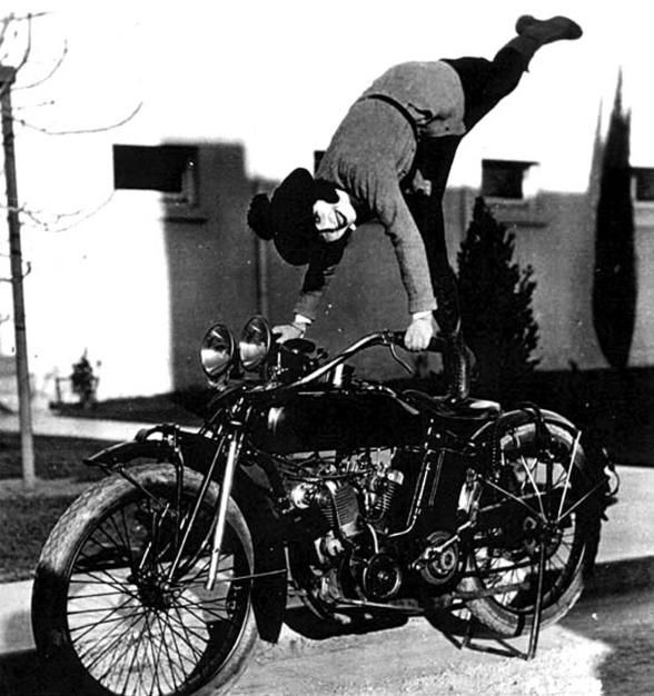 Mabel Normand (here with her Indian motorcycle circa 1920, via Looking for Mabel Normand)
