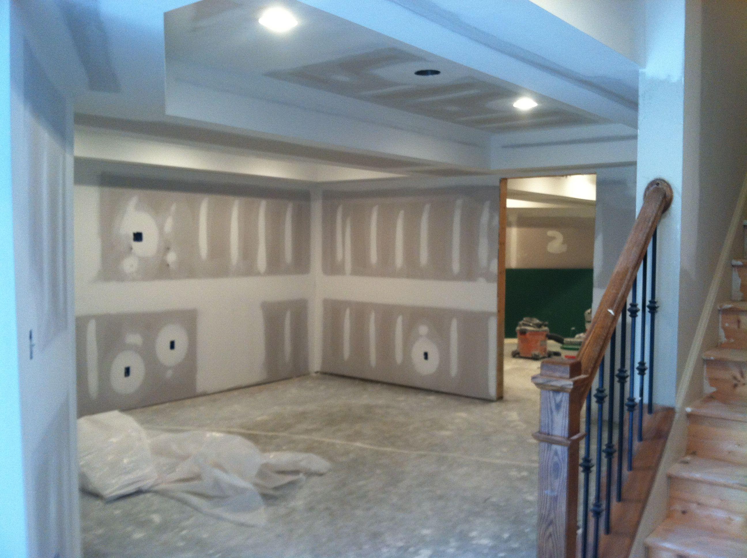 Sheet Rock Installed Finishing Basement New Homes Home