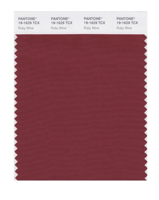 Pantone Smart 19 1526x Color Swatch Card Ruby Wine Color Swatch Pantone Swatch