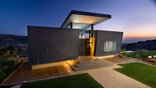 Modern facade houses
