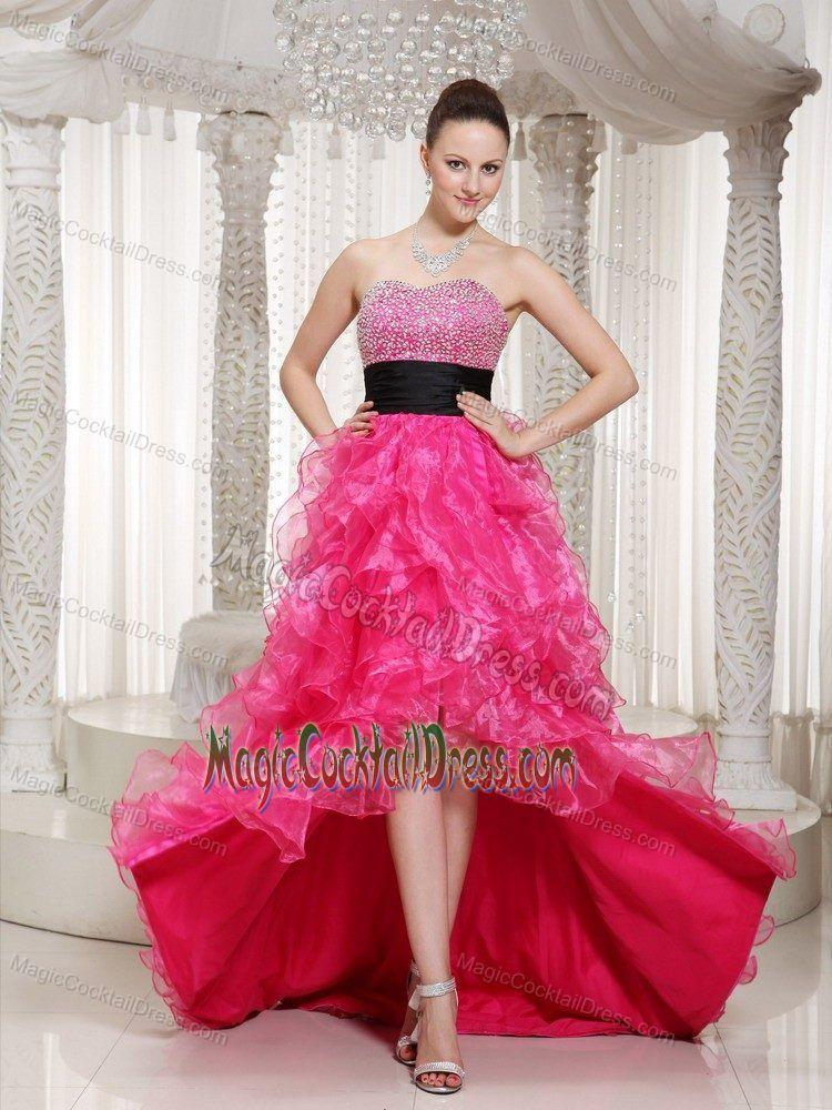 Hot Pink Front Short Back Long Prom Cocktail Dress in Florida | Best ...