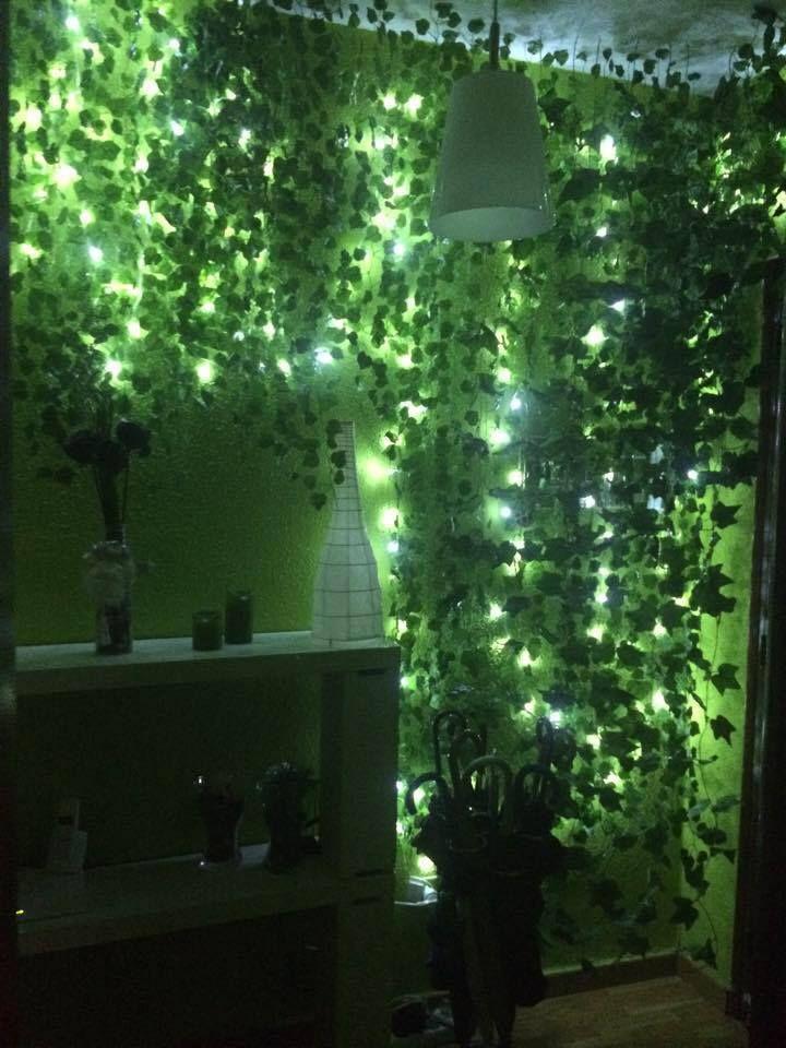 Bosque de hadas en el recibidor decoraci n vegetal con - Luces de ambiente ...