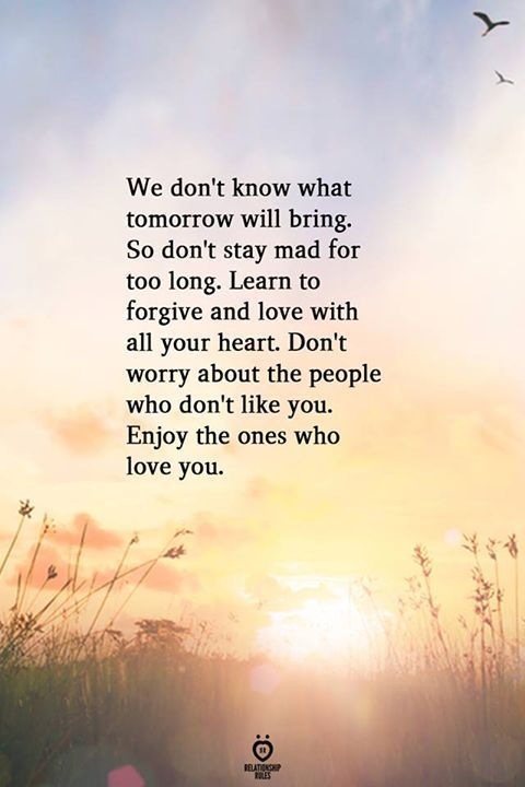 We Don't Know What Tomorrow Will Bring