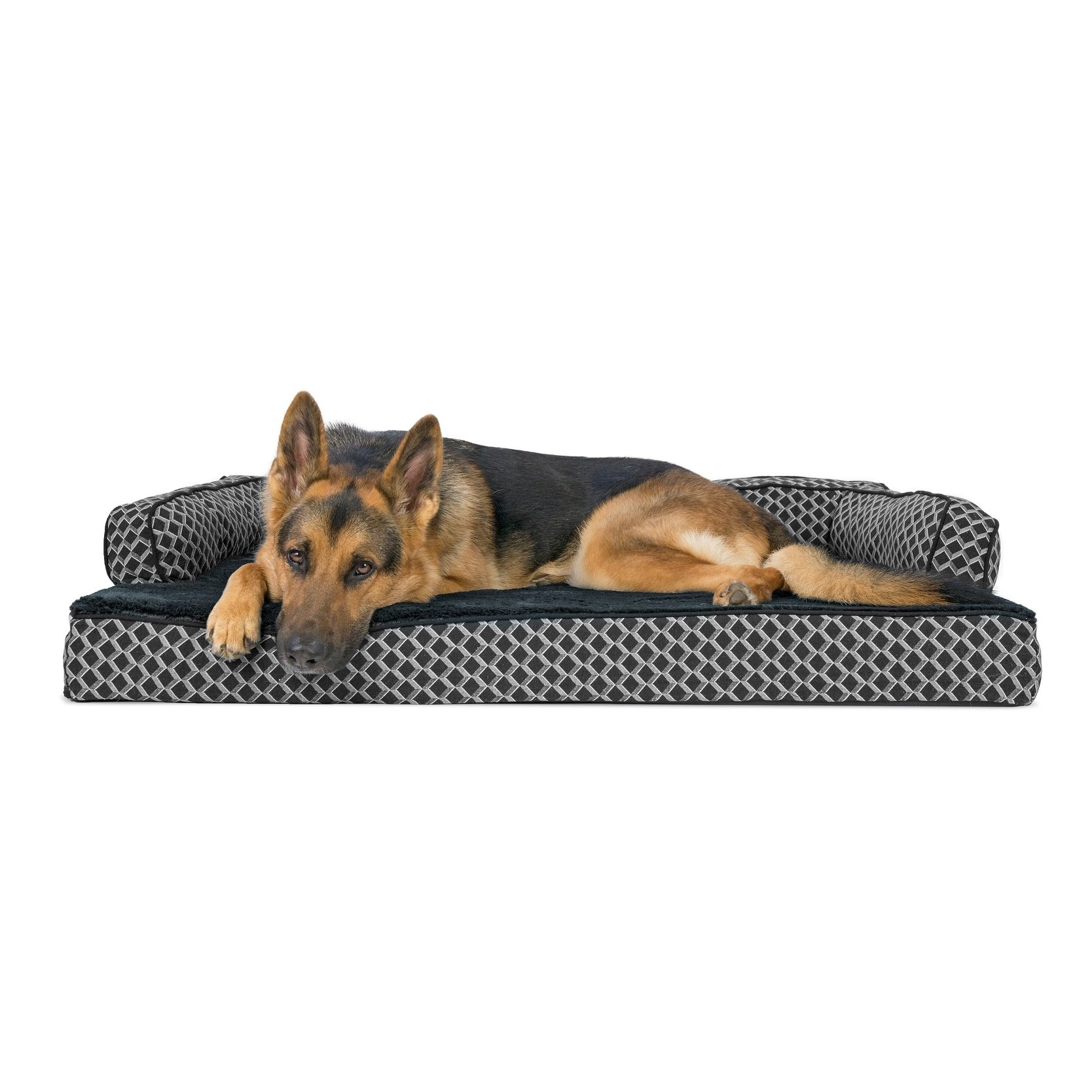 Furhaven Plush Decor Comfy Couch Orthopedic Sofa Style Pet Bed