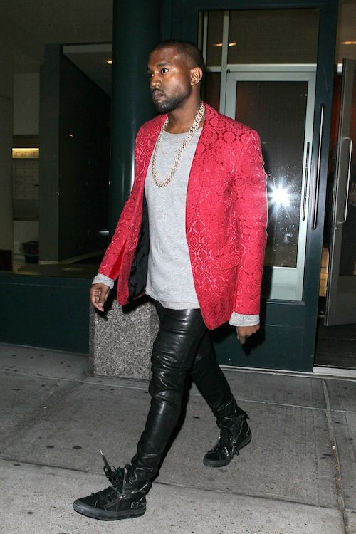 Try Pairing A Red Blazer With Black Leather Jeans To Look Classy But Not Particularly Formal Fo Black Leather Jeans Mens Burgundy Blazer Turtleneck And Blazer