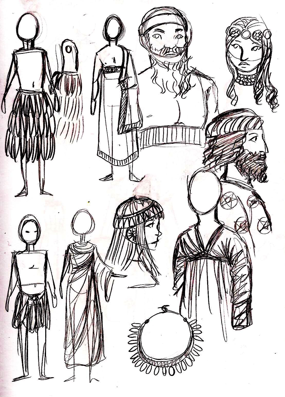 Sumerian Sketches Sketches Mesopotamia Sumerian