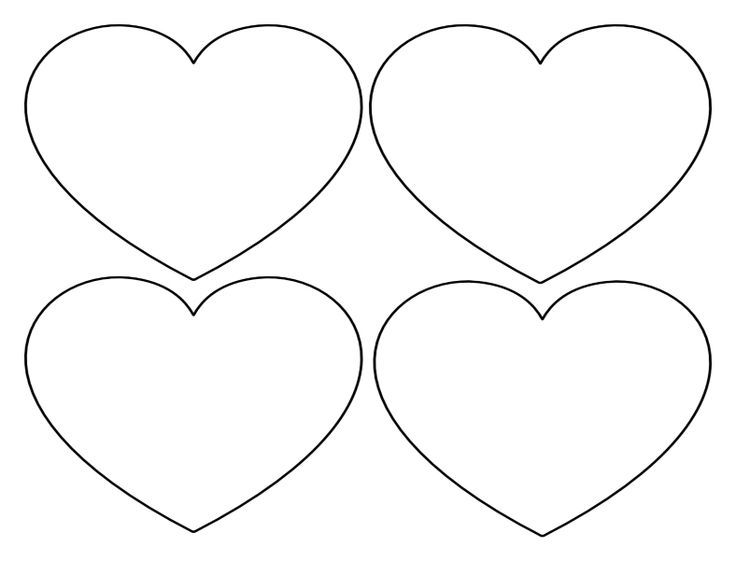 Printable Heart Shapes - Tiny, Small & Medium Outlines | Homemade