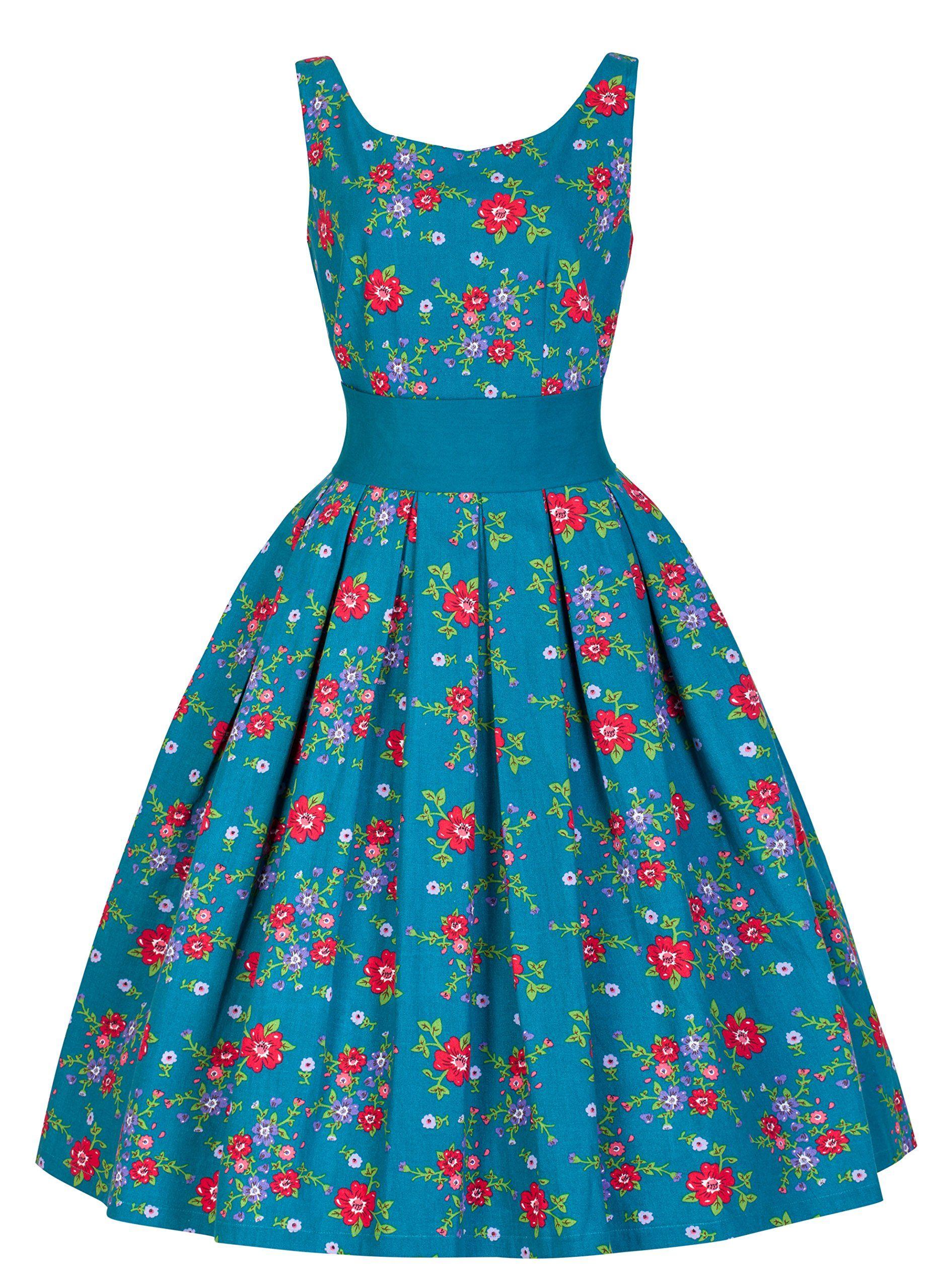 Lindy Bop \'Lana\' Elegant Vintage 1950\'s Garden Party Prom Dress (2XL ...