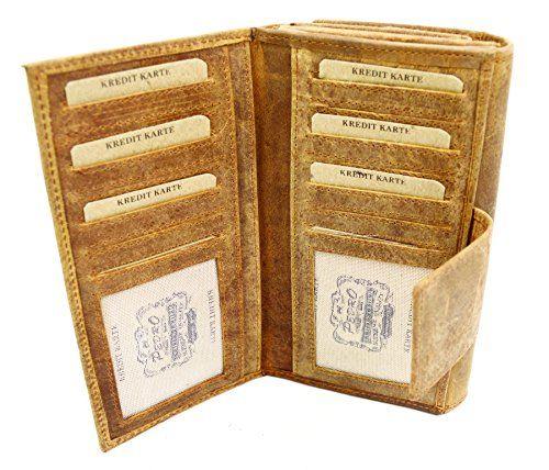 c18d233869544 Damen Ledergeldbörse German Design Sandfarbene Damenbrieftasche Pedro.  Sandfarbene Wild Things Damengeldbörse. Die Börse bietet