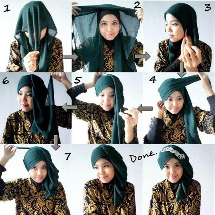 11 Tutorial Hijab Segi Empat Simpel Ini Akan Membuat Kamu Anggun Dan Tambah Cantik Papasemar Com Gaya Hijab Hijab Wanita
