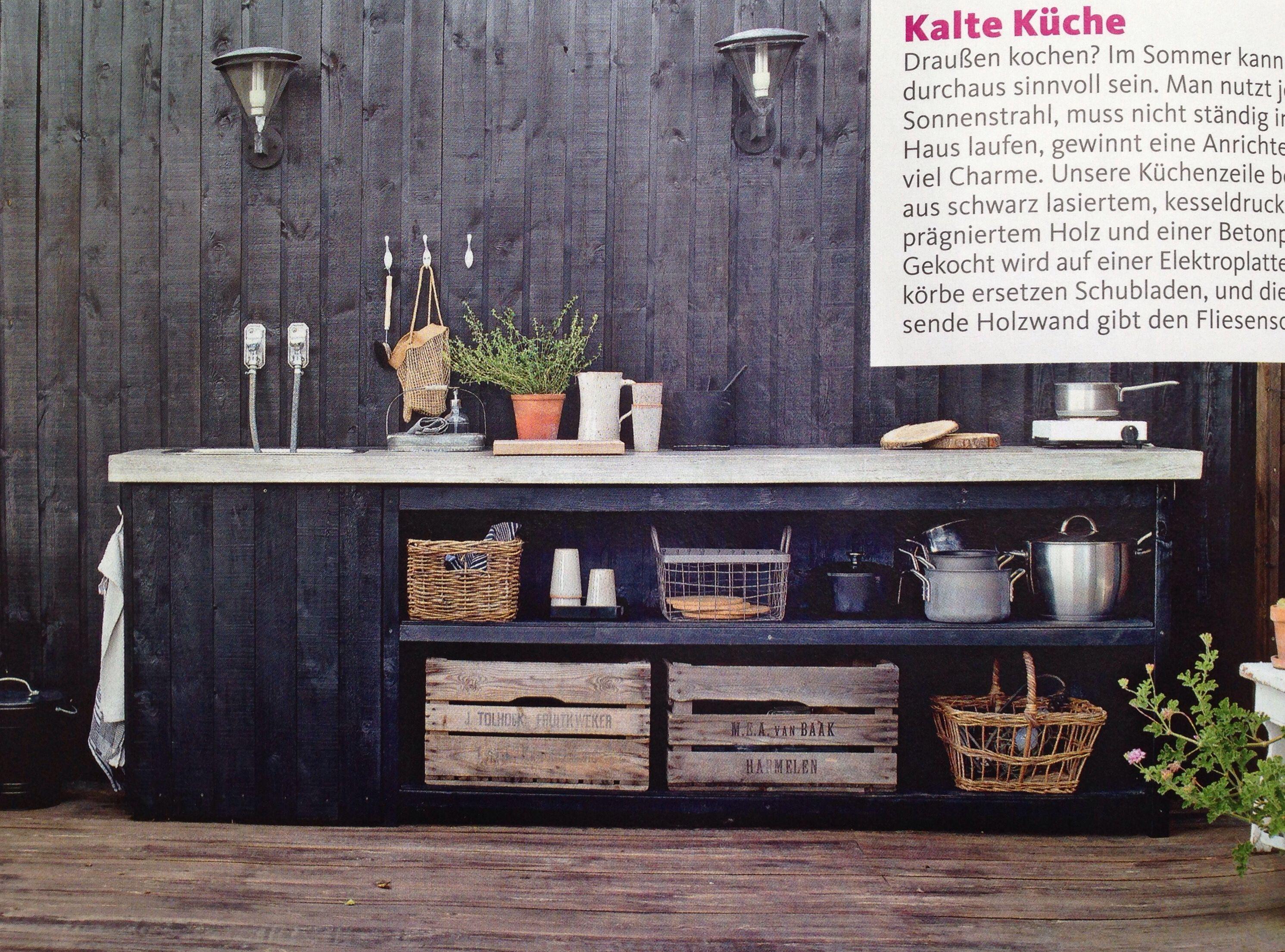 annex, outdoor kitchen, bench, sideboard, DIY concrete top