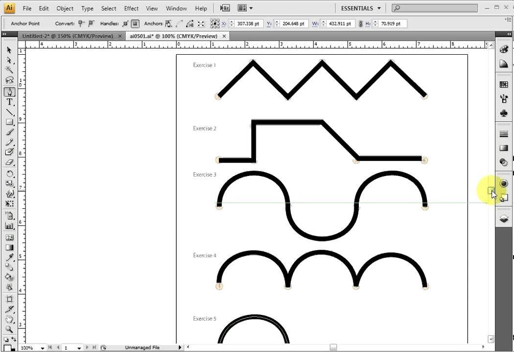 Illustrator Pen Tool (Curves) Pen tool, Illustrator