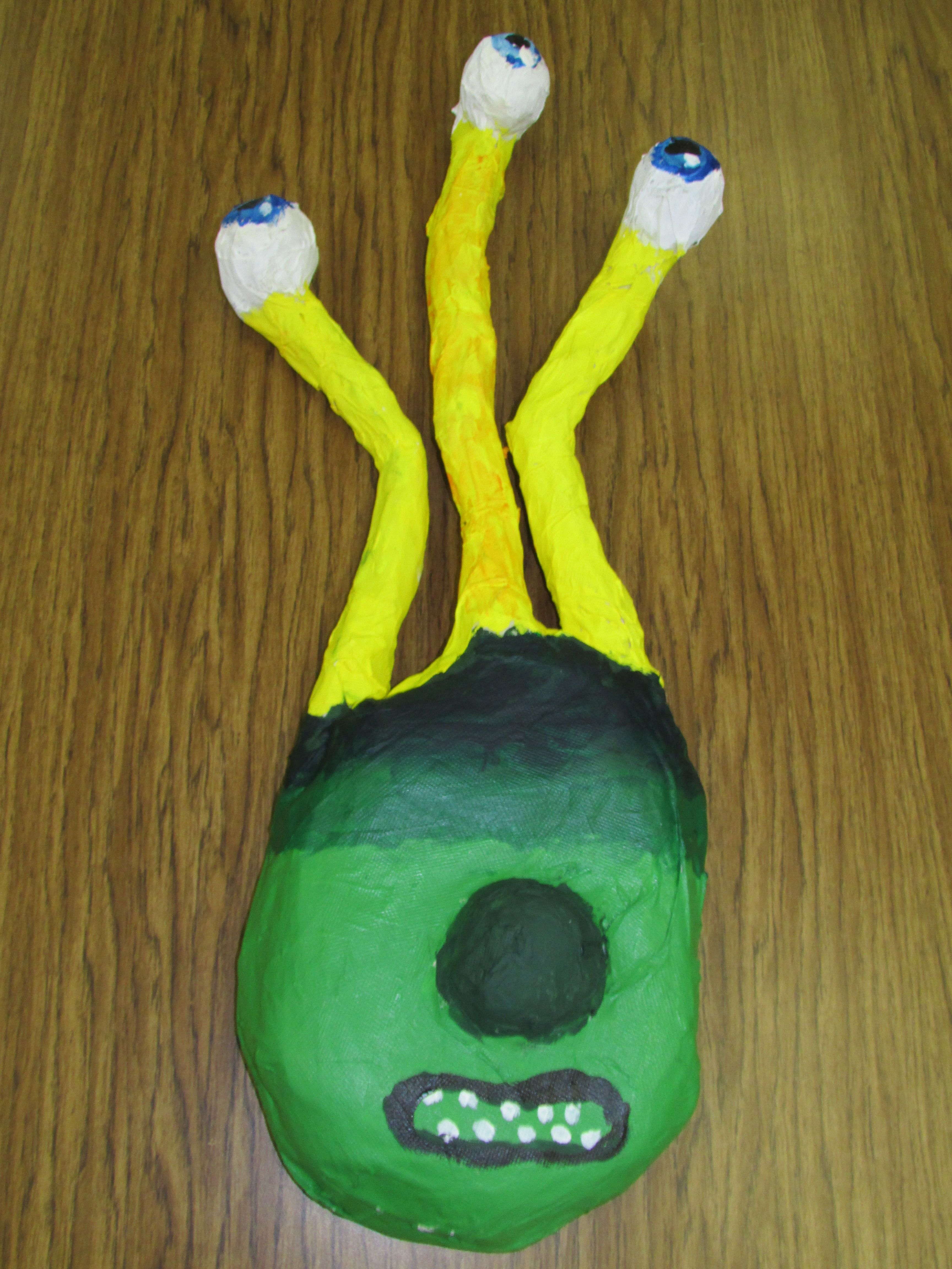 Paper Mache Alien Mask By A 3rd Grader Lesson By Art