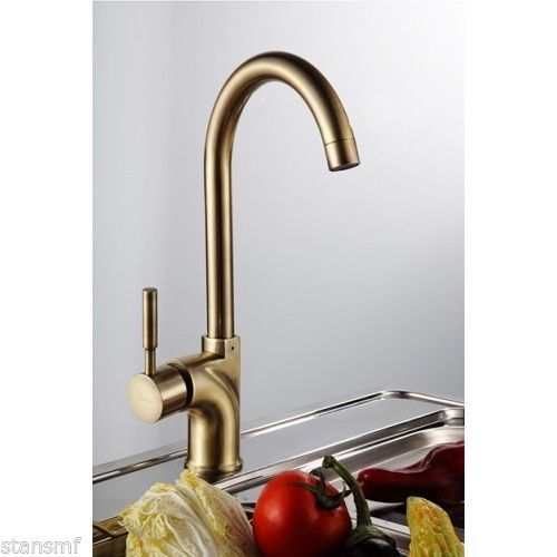 Modern Kitchen Taps modern kitchen swivel brushed brass mixer tap new quality item