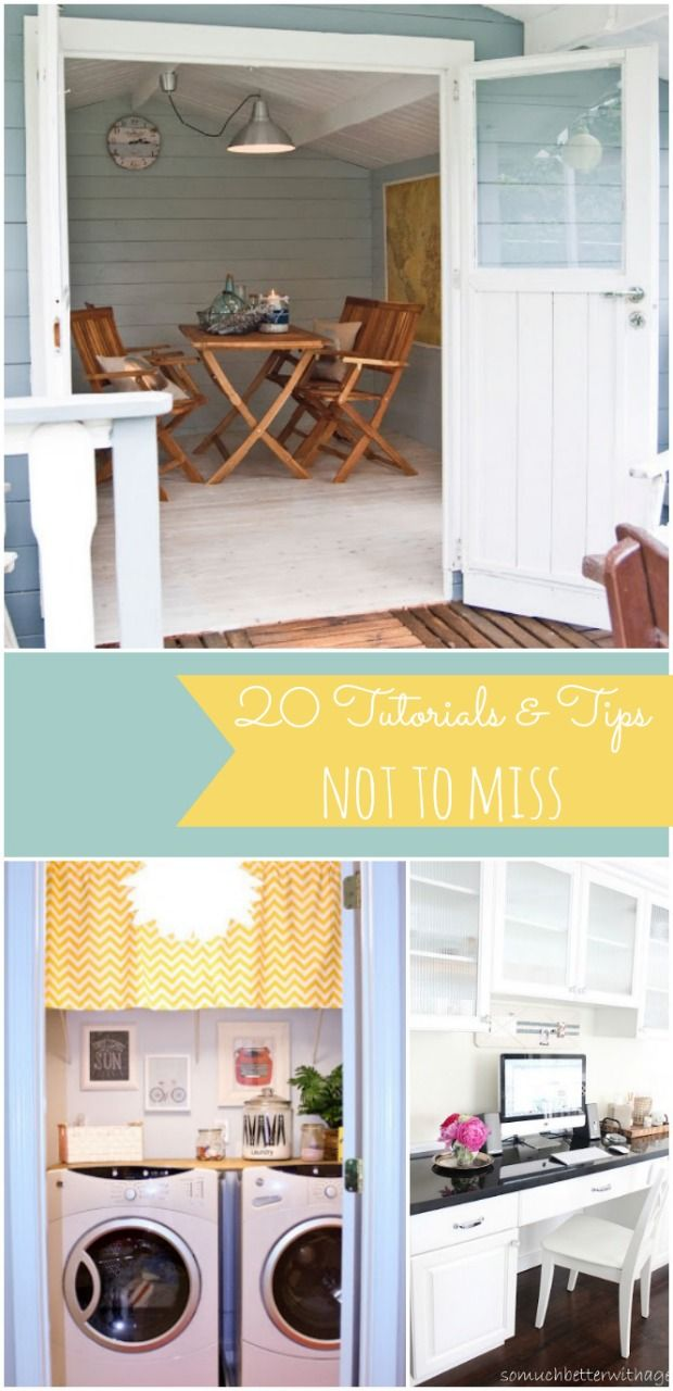 20 Tutorials and Tips Not to Miss | Tutorials, Nate berkus and ...